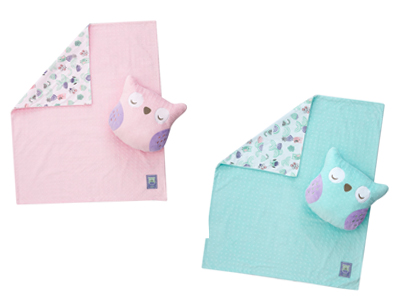 訂閱媽媽寶寶雜誌9期+【奇哥】PUP豆趣二合一抱枕毯
