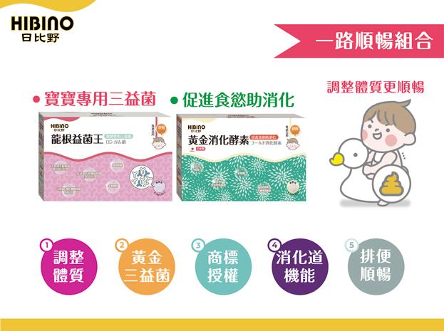 【日比野】寶寶營養食品 龍根益菌王/頂級黃金初乳 調整體質加強防護力-3