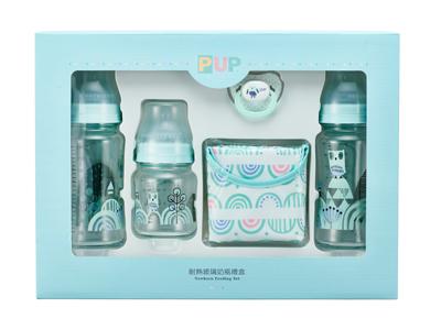訂閱媽媽寶寶雜誌6期+【奇哥】貓頭鷹硼矽玻璃奶瓶禮盒